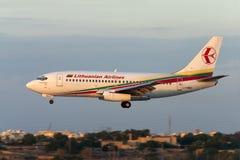 Luqa, Malta 20 September, 2004: Let 737-200 Stock Afbeelding