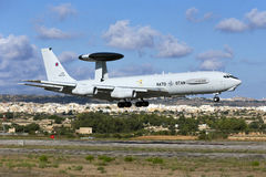 Luqa, Malta - 26 September 2015: NATO AWACS. Royalty Free Stock Photo
