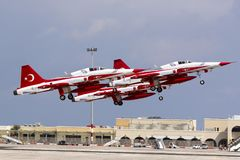 Turkish Air Force Aerobatic Display Team Stock Images
