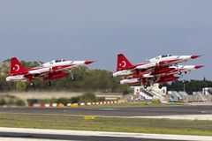 Turkish Air Force Aerobatic Display Team Stock Photography