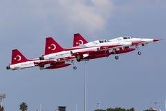 Turkish Air Force Aerobatic Display Team Royalty Free Stock Photo