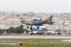 Luqa, Malta am 25. September 2015: Polnisches Anzeigen-Team Lizenzfreie Stockfotos