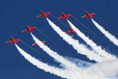 LUQA, MALTA 28 September 2014: Red Arrows at Malta International Airshow 2014 Royalty Free Stock Photography