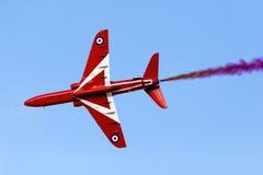 Luqa, Malta, 28 September 2015: Red Arrows performance. Stock Image