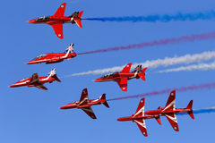 Luqa, Malta, 28 September 2015: Red Arrows performance. Stock Images
