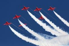 LUQA, MALTA 28 September 2014: Rode Pijlen in Malta Internationale Airshow 2014 Royalty-vrije Stock Fotografie