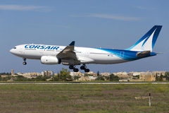 Luqa Malta - 10 September 2015: Sjörövare A330 Arkivfoto
