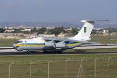 Luqa, Malta - 17 September 2015: Ukraine Il-76. Royalty Free Stock Photo