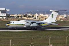 Luqa, Malta - 17 September 2015: Ukraine Il-76. Royalty Free Stock Photography