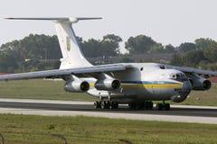 Luqa, Malta - 17 September 2015: Ukraine Il-76. Royalty Free Stock Photos