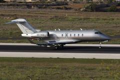Luqa Malta - 17 September 2015: Vistajet utmanare Royaltyfria Bilder