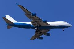 Luqa, Malta - 26 settembre 2015: 747 atterrando Fotografie Stock Libere da Diritti
