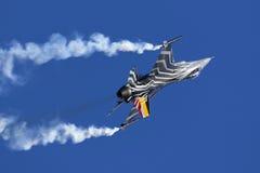 Luqa, Malta - 27 settembre 2015: Esposizione F-16 Immagini Stock Libere da Diritti