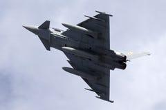 Luqa, Malta - 28 settembre 2015: Eurofighter decolla Fotografie Stock Libere da Diritti