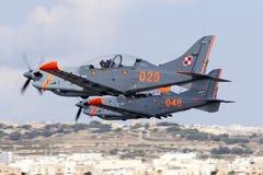 Luqa, Malta - 28 settembre 2015: Orlik decolla Fotografia Stock Libera da Diritti