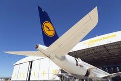 Luqa, Malta - 26 settembre 2015: Servizio A340 Fotografia Stock Libera da Diritti
