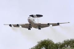 Luqa, Malta - 25 2015 Wrzesień: NATO-WSKI AWACS Obrazy Royalty Free
