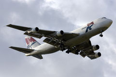 Luqa, Malte - 18 février 2009 : 747 débarquant Images stock