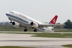 Luqa, Malte le 1er avril 2005 : Air Malte Boeing 737 Images libres de droits