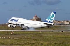 Luqa, Malte le 26 septembre 2004 : Corsaire 747 Image libre de droits