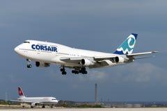 Luqa, Malte le 26 septembre 2004 : Corsaire 747 Photographie stock libre de droits