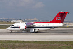 Luqa, Malte le 21 septembre 2004 : RAF VIP BAe-146 Image libre de droits