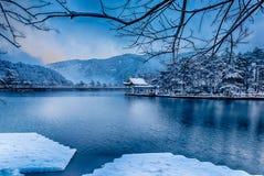 Free Luqin Lake 3-Snow Scene In Mount Lu Stock Photography - 137727642