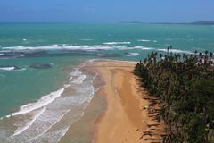 Luquillo plaża, Luquillo Puerto Rico Po Huraganowego Maria obraz stock
