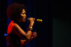 Lura. Performs onstage at Nacional Assembly November 05, 2010 in Cape Verde, Praia Royalty Free Stock Photo
