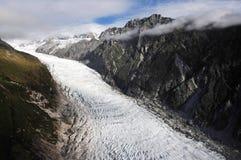 lura glaciären New Zealand royaltyfri foto