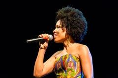 Lura performs onstage Stock Photos