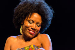 Lura performs onstage Stock Photo