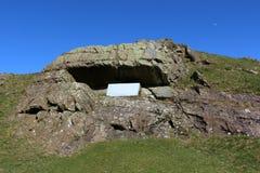 Lura platsen för predikstolen för ` s den historiska nära Sedbergh Cumbria Arkivbild