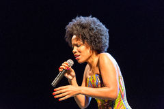 Lura voert onstage uit Stock Fotografie