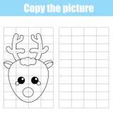 Lurar den bildande leken för rasterkopieringsbarn som drar aktivitet, jul vektor illustrationer