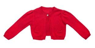 Lurar den röda tröjan för flickor Fotografering för Bildbyråer