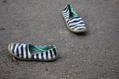 lurar gammala skor Royaltyfri Fotografi
