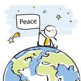 Lurar global fred vektor illustrationer