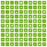 100 lurar gräsplan för grunge för leksymboler fastställd Royaltyfria Foton