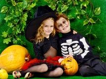 Lurar halloween Fotografering för Bildbyråer