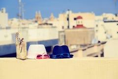 Lurar hattar på semester i stads- Europa Fotografering för Bildbyråer