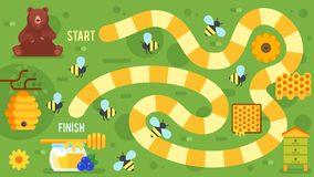 lurar honungbrädeleken stock illustrationer