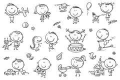 lurar leka toys stock illustrationer