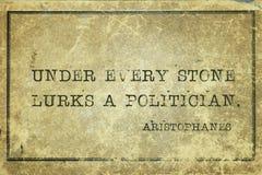 Lurar politikern Aristophanes Arkivbilder