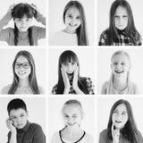 Lurar sinnesrörelsecollage Fotografering för Bildbyråer