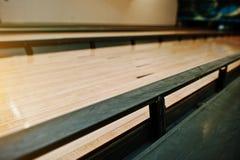 Lurar stötdämpare på bowlinggränden Royaltyfri Fotografi