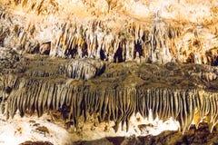 Luray洞穴给催眠的自然奇迹  库存照片