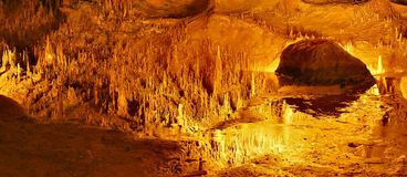 luray的洞穴 免版税图库摄影