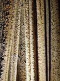 Luray洞穴复杂地被仿造的帷幕钟乳石 库存照片