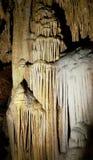 Luray Caverns flowstone wapnia formacje Zdjęcie Royalty Free
